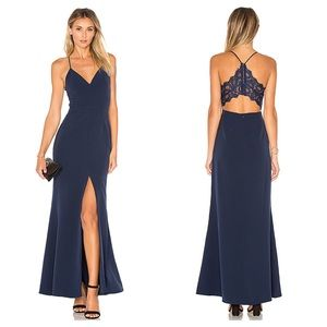 NWT Lovers + Friends Helena Gown In Navy Size 0